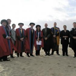 Bournemouth University graduation on the beach