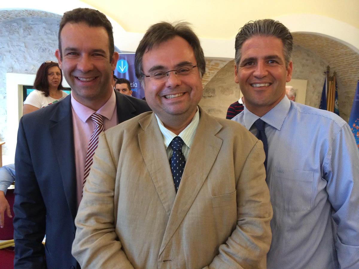 Buhalis in Corfu with Karabatsos and Anemogiannis