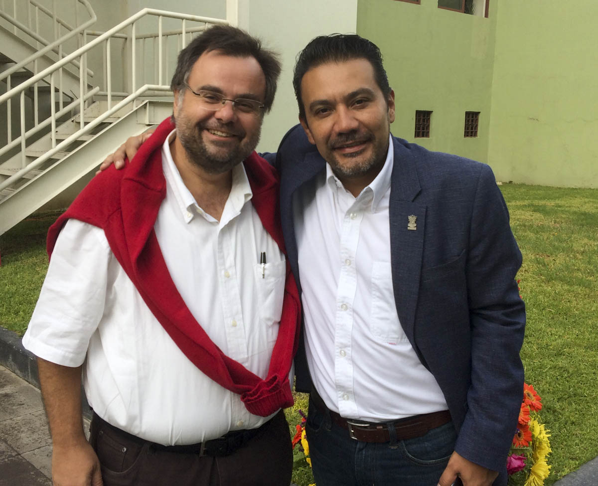 Buhalis Mexico with Minister of Tourism of Michuacan Roberto Monroy García