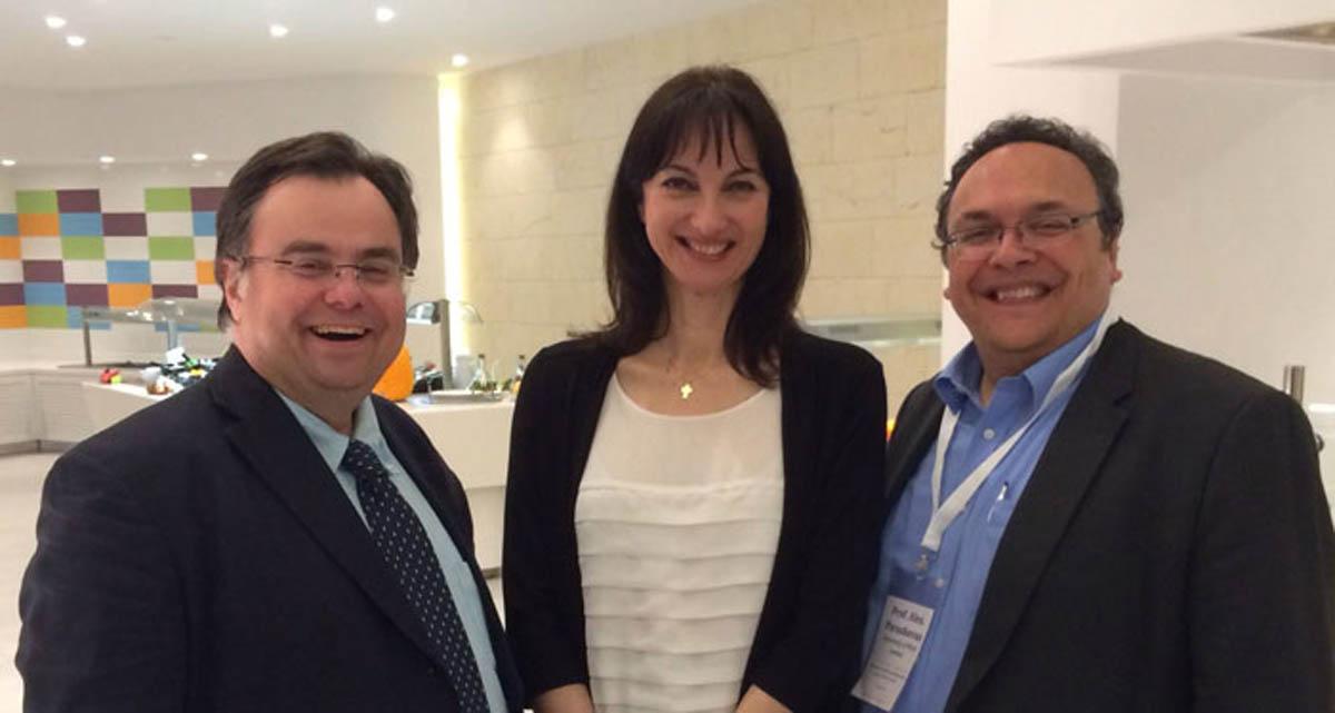 Buhalis with Elena Kountoura Greek-Minister-of-Tourism and Prof Paraskevas