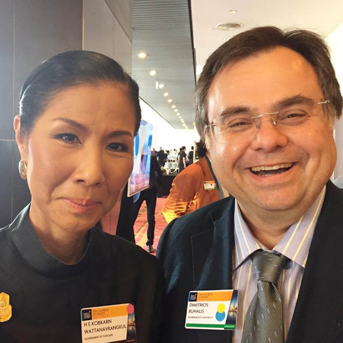 Buhalis with HE Kobkarn Wattanavrangkul Minister of Tourism for Thailand