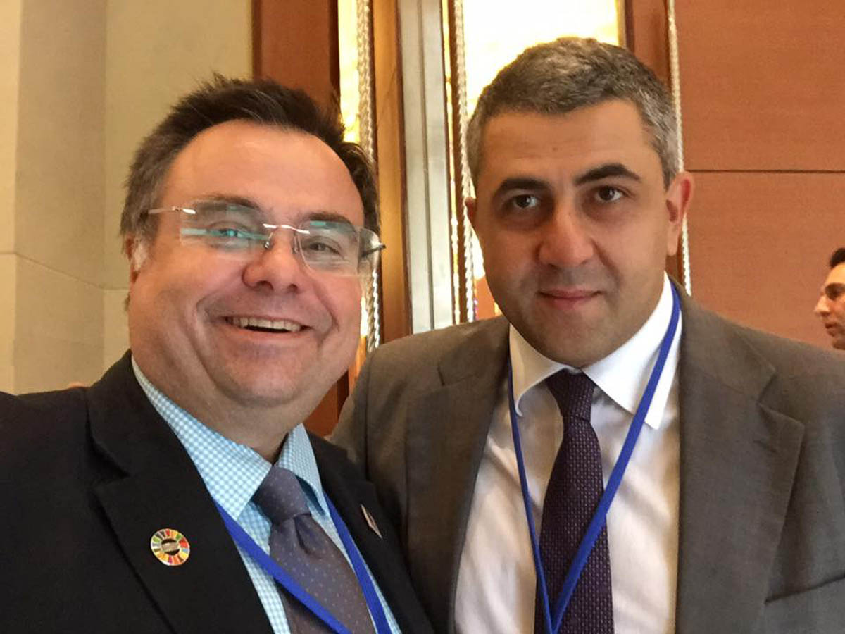 Buhalis with Zurab Pololikashvili UNWTO