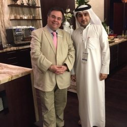 Buhalis with Abdulla Al Hammadi, Director of the National Tourism Programme for the Ministry of Economy of UAE