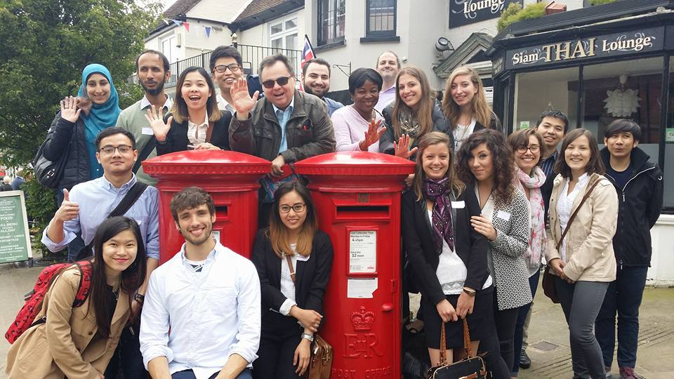 Dimitrios Buhalis with students visiting New Forest UK